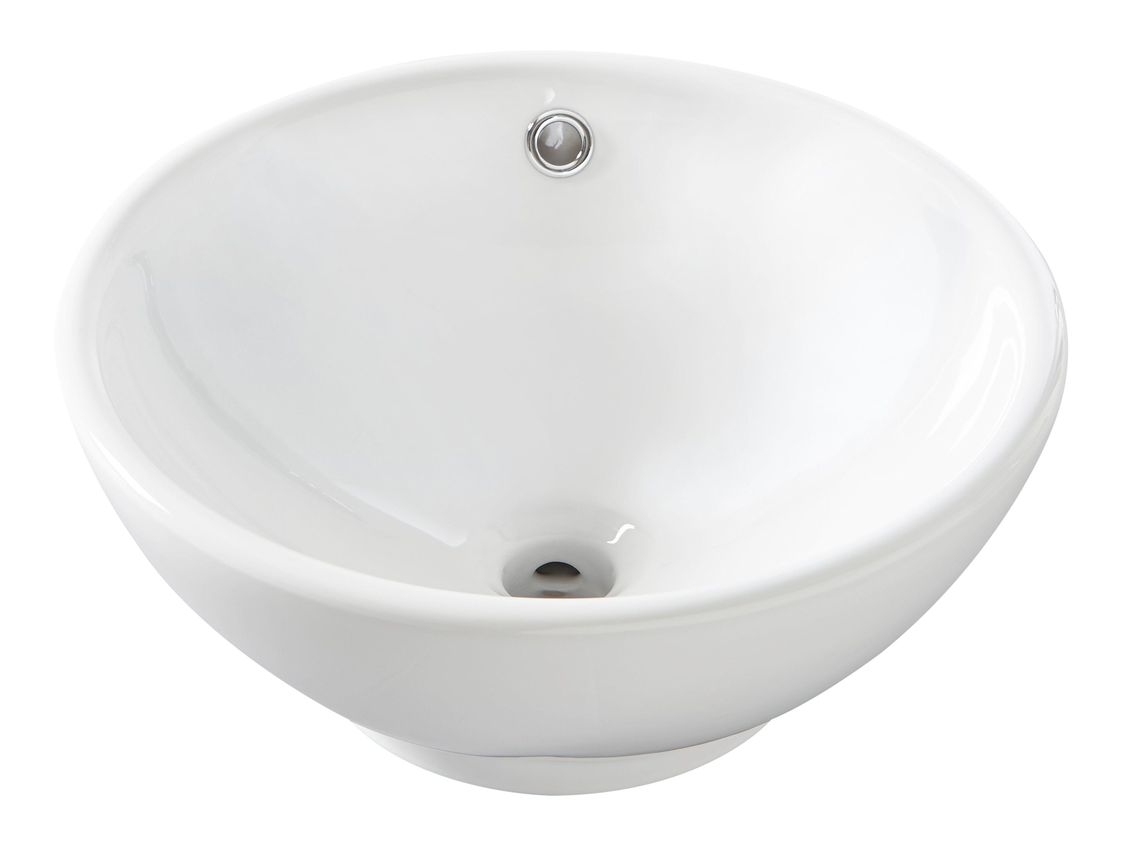 Aufsatz-Waschbecken , rund, 40 cm Durchmesser   Bad > Waschbecken   Kunststoff