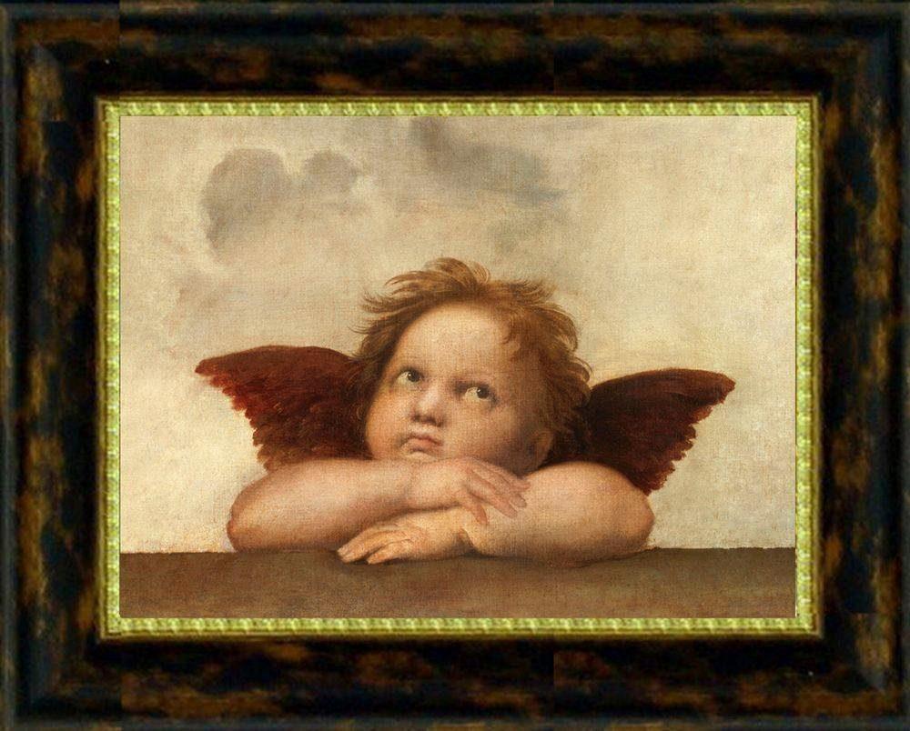 Premium Picture XXL Classic »Engel träumerisch«, 56/46 cm