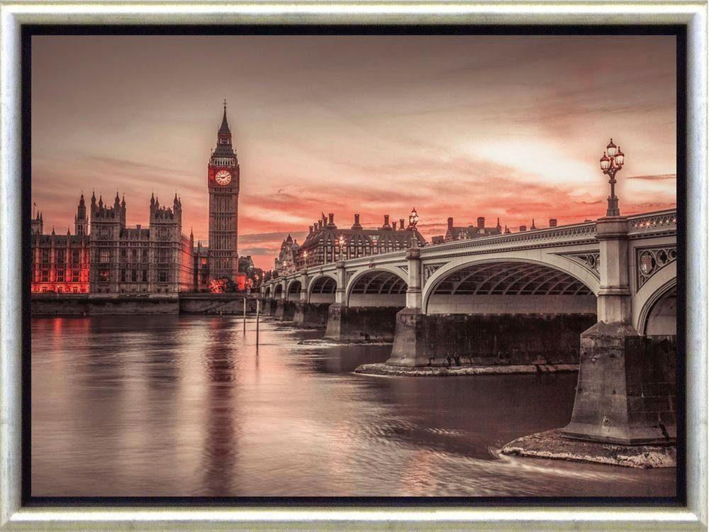 Premium Picture Schattenfugenbild »London/Big Ben«, 46/36 cm