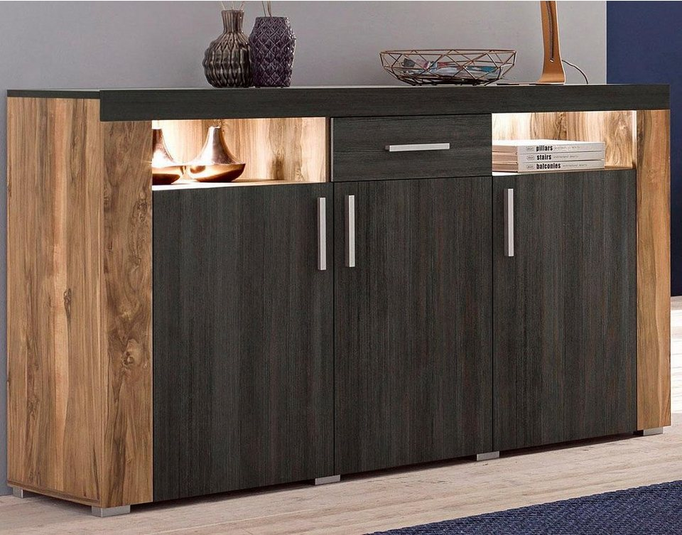 sideboard breite 140 cm fsc zertifizierter. Black Bedroom Furniture Sets. Home Design Ideas