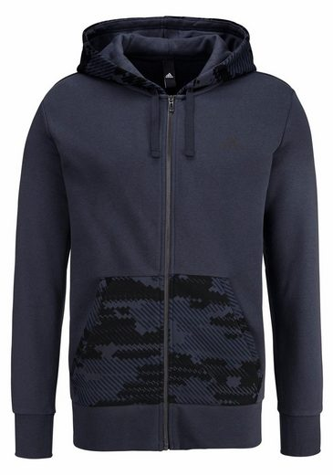adidas Performance Kapuzensweatjacke ESSENTIALS CAMO FULL-ZIP HOOD FLEECE