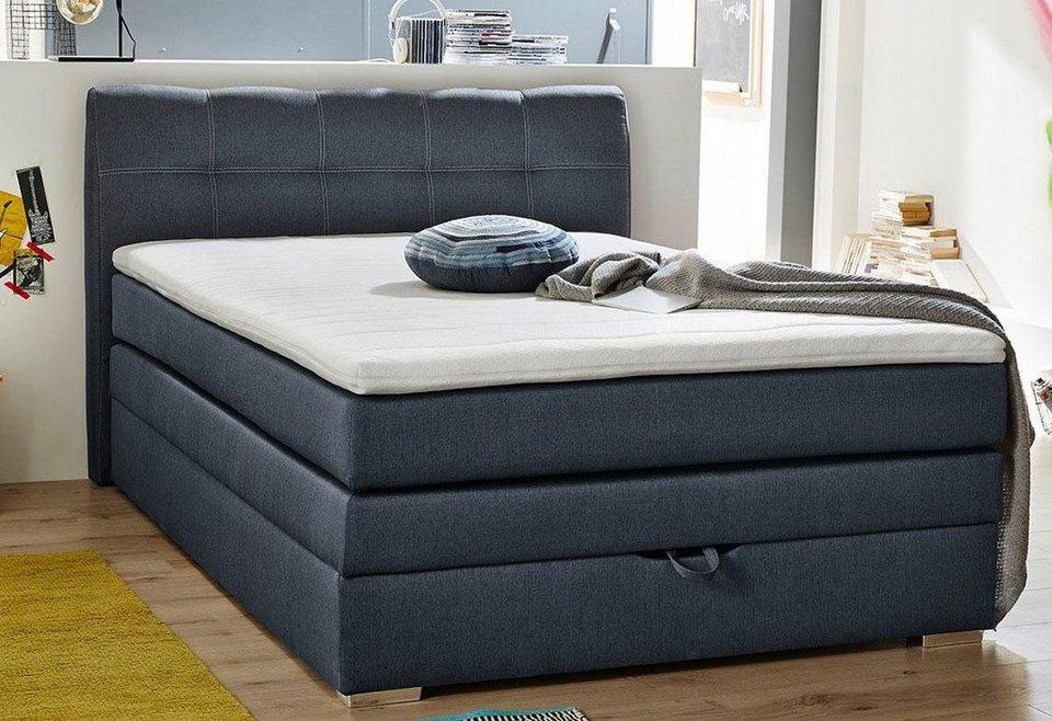boxspringbett mit bettkasten schubladen kaufen otto. Black Bedroom Furniture Sets. Home Design Ideas