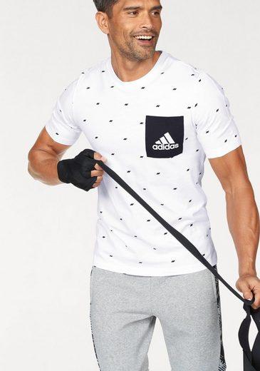 adidas Performance T-Shirt ESSENTIALS GRAPHIC POCKET TEE