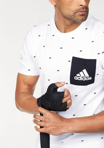 adidas Performance T-Shirt ESSENTIALS GRAPHIC POCKET TEE
