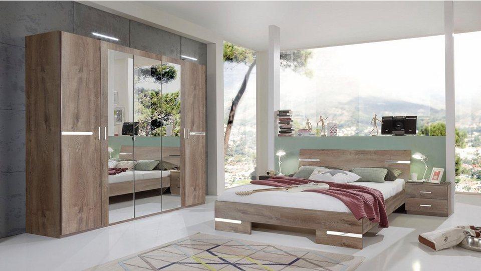 Wimex Schlafzimmer-Set »Anna«, 4-teilig, Glänzende chromfarbene ...