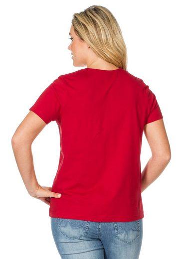 sheego Casual T-Shirt, mit Biesen