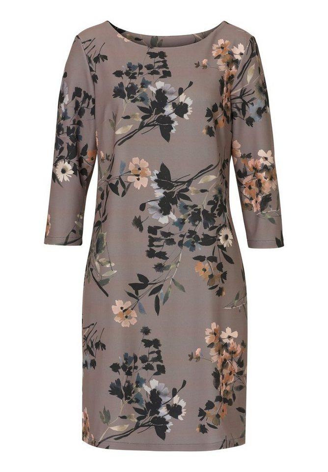 Cartoon Kleid in Taupe/Rosa - Bunt