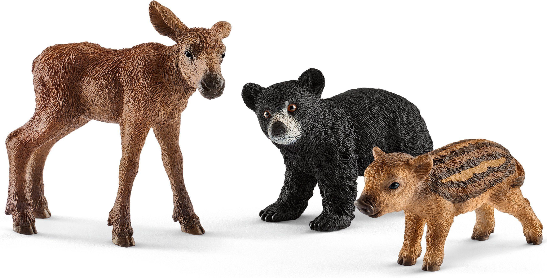 Schleich® Spielfiguren Set (41457), »Wild Life, Waldtierbabys«