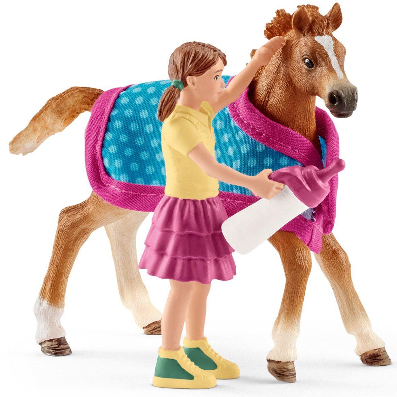 Schleich® Spielfigur (42361), »Horse Club, Fohlen mit Decke«