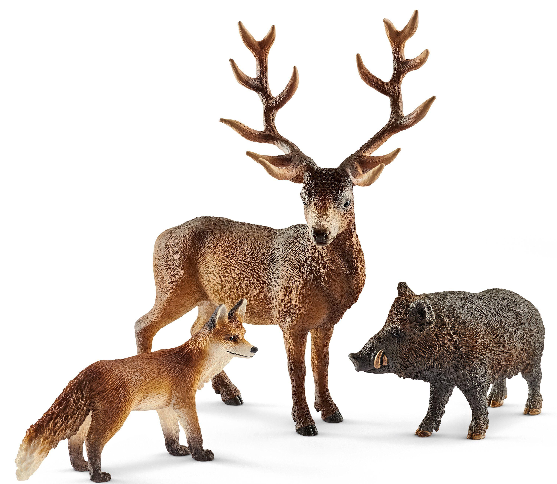 Schleich® Spielfiguren Set (41458), »Wild Life, Waldbewohner Europas«