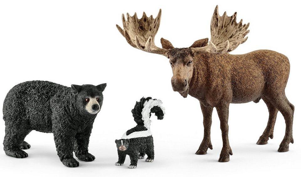 Schleich® Spielfiguren Set (41456),  Wild Life, Waldbewohner Nordamerikas  online kaufen