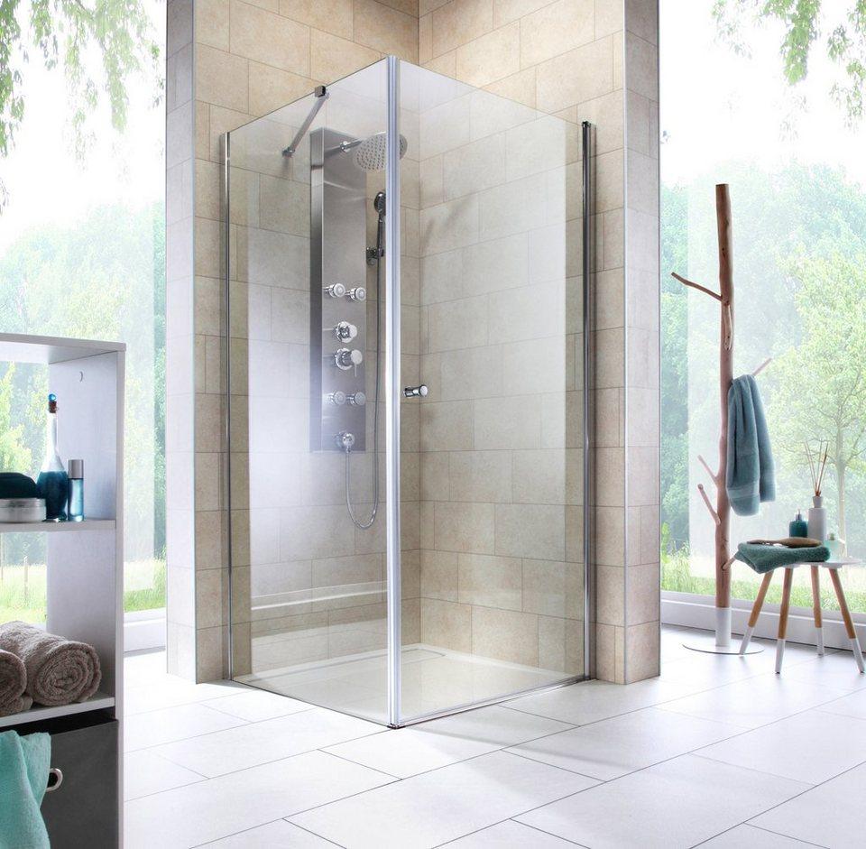 Eckdusche »Florenz«, Duschkabine, Eckeinstieg, 90 x 90 cm, Edles Design mit  6mm Glasstärke (ESG) online kaufen | OTTO