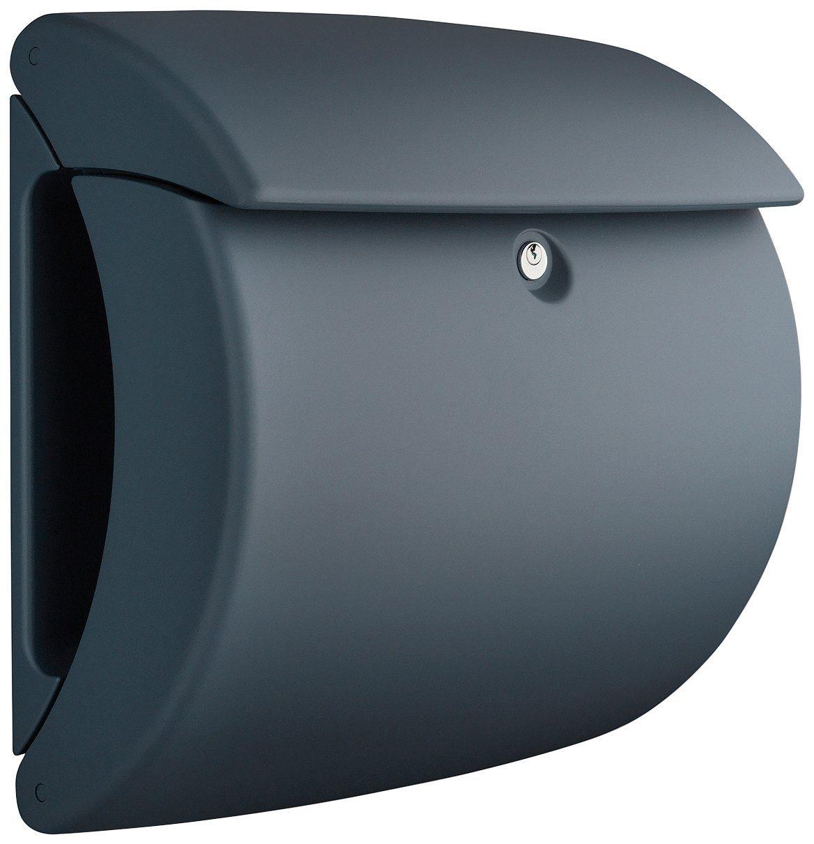 BURG WÄCHTER Briefkasten »Briefkasten in Matt-Optik, Pearl 886 GR«, Granit