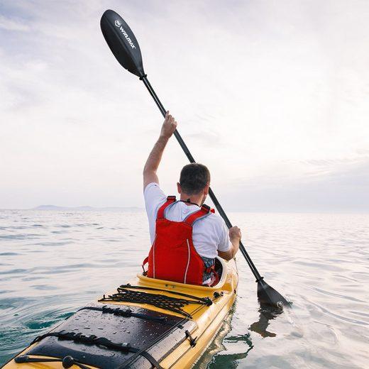 WIN.MAX »Haifisch kajak paddel boot paddel kanus paddel sup board paddel standup paddel doppelpaddel« Kajakpaddel, verstellbar, Alulegierung