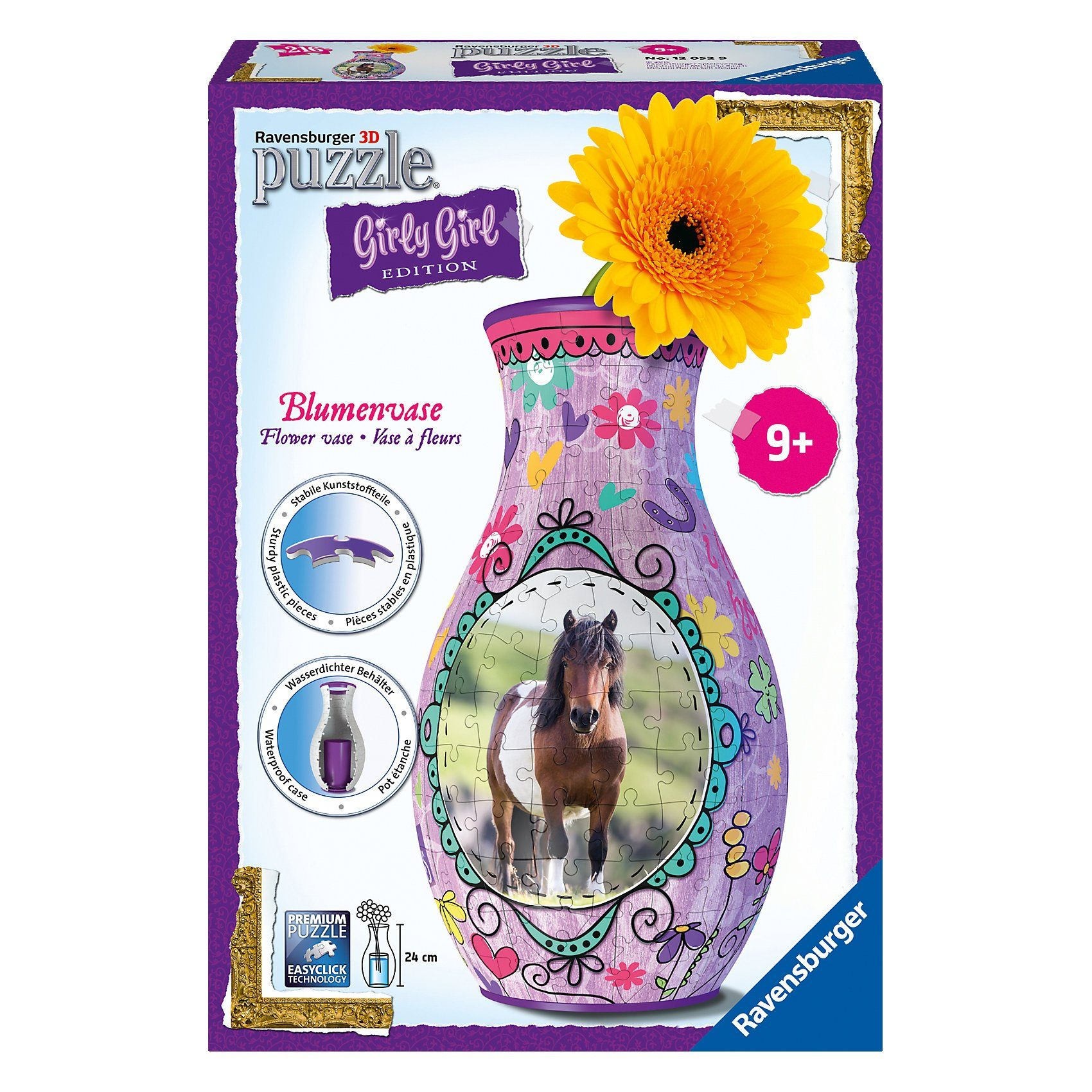 Ravensburger 3-D Puzzle Girly Girl Edition Blumenvase Pferde