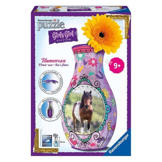 Ravensburger 3-D Puzzle Girly Girl Edition Blumenvase Pferde