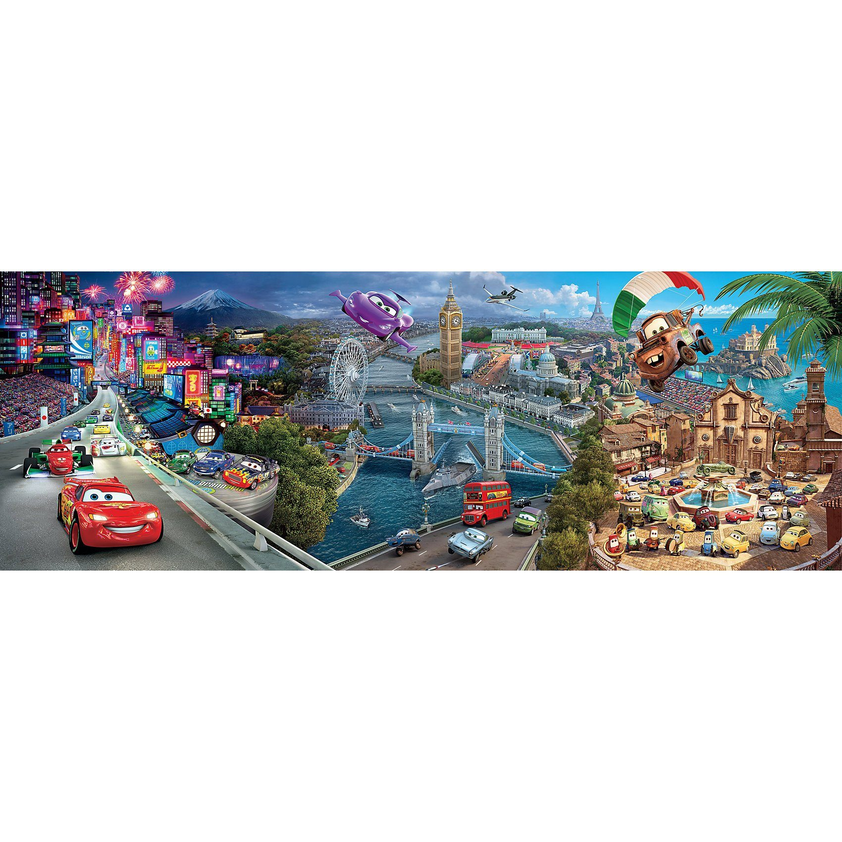 Clementoni Panorama Puzzle 1000 Teile - Cars