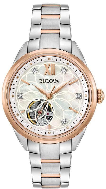 Bulova Automatikuhr »Diamonds, 98P170«, mit Perlmuttzifferblatt