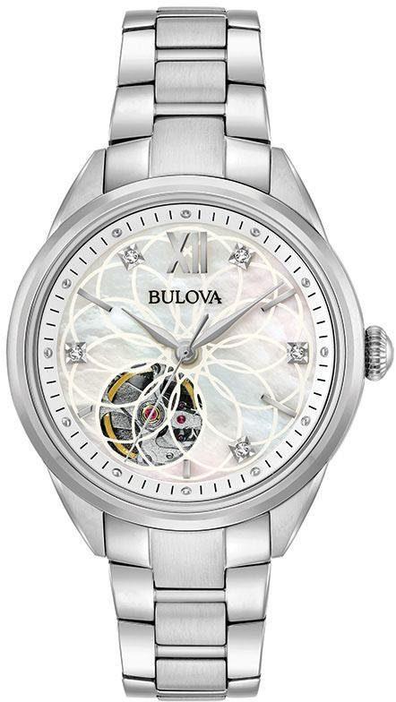 Bulova Automatikuhr »Diamonds, 96P181«, mit Perlmuttzifferblatt