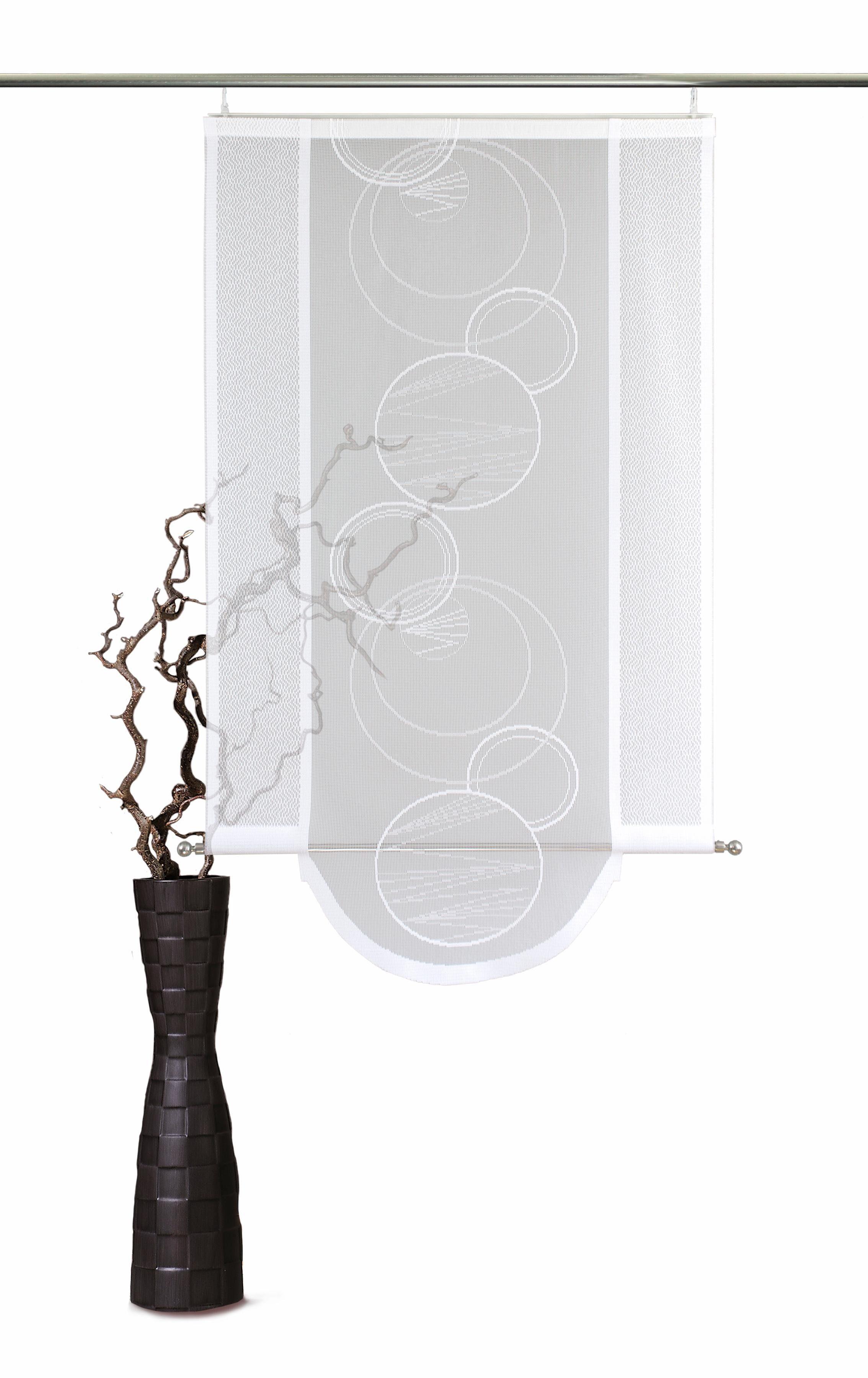 Schiebegardine »Aura«, VHG, Klettband (1 Stück), inkl. Befestigungszubehör, Bogenabschluss