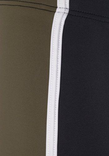 Herren Chiemsee, Boxer-Badehose mit Kontrasteinsätzen schwarz | 04893848118558
