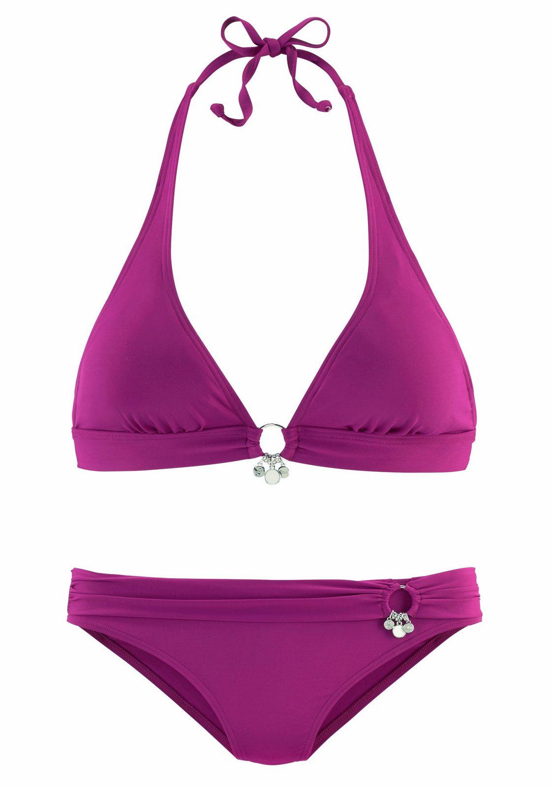 s.Oliver RED LABEL Beachwear Triangel-Bikini mit Accessoires - broschei