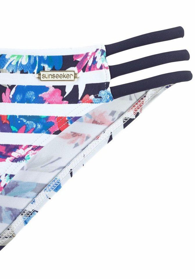 - Damen sunseeker Triangel-Bikini mit Doppelträgern blau, schwarz, weiß | 04893848554516