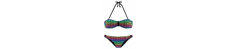 Bench Bandeau bunten Bandeau Bench im Druckdesign Bikini unifarben oder 7xgqfw