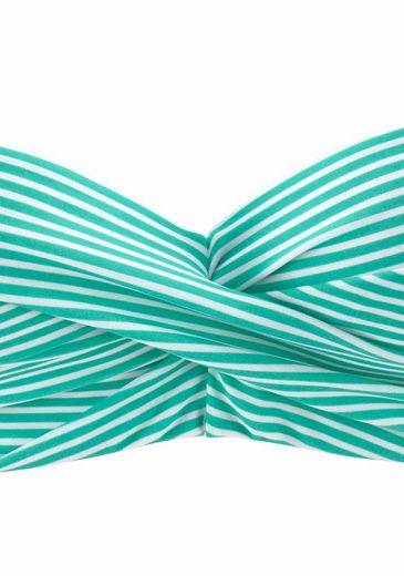 s.Oliver RED LABEL Beachwear Bügel-Bandeau-Bikini im Streifendesign