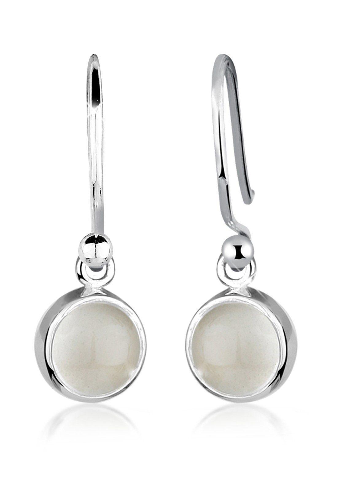 Elli Ohrringe »Mondstein Moon Astro Basic Elegant 925 Silber«