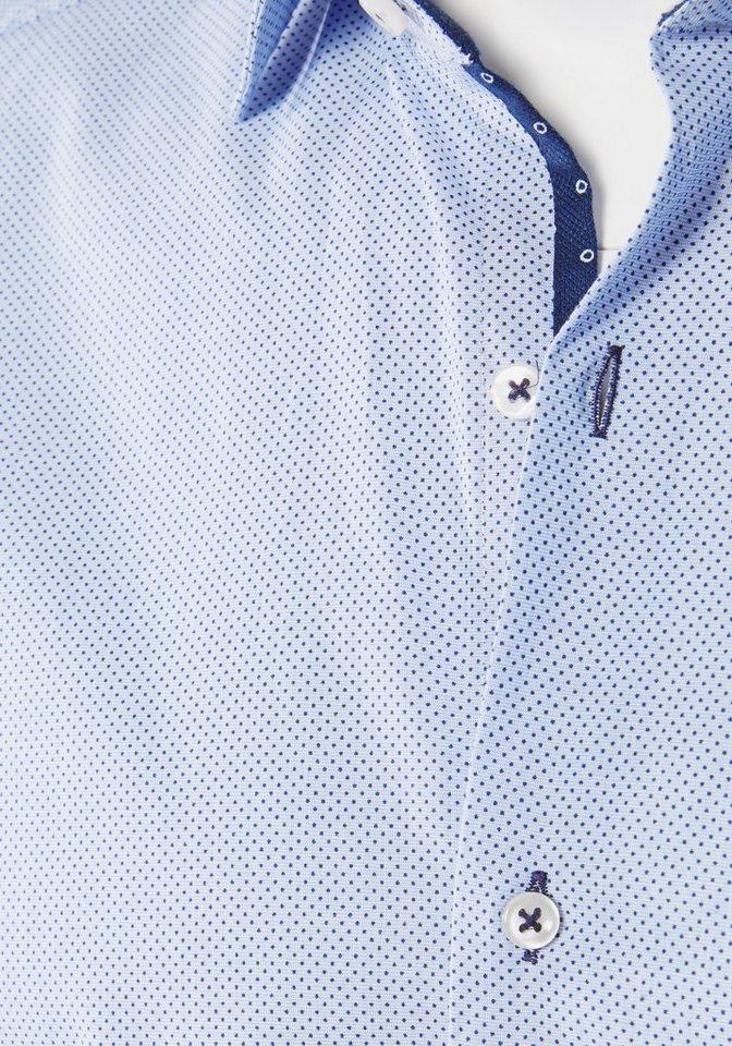 PIERRE CARDIN Businesshemd gepunktet in hellblau