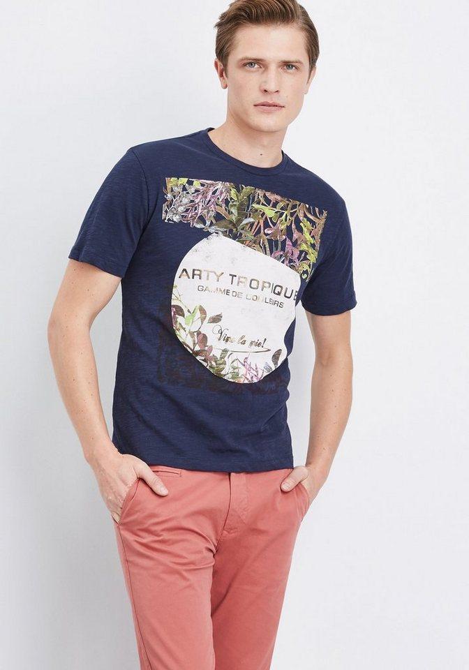 pierre cardin t shirt mit floralem motiv modern fit. Black Bedroom Furniture Sets. Home Design Ideas