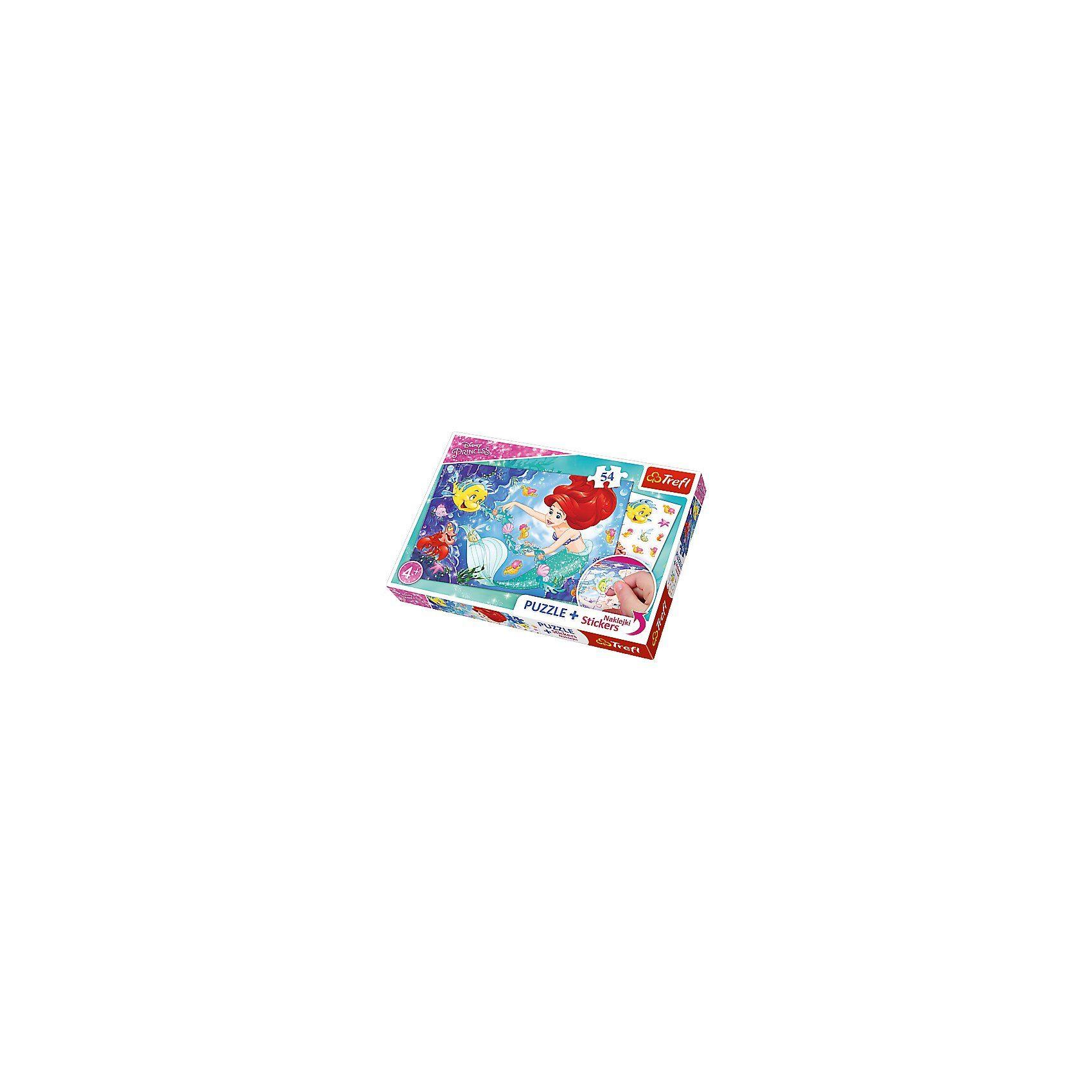 Trefl Puzzle - 54 Teile + Stickers - Arielle