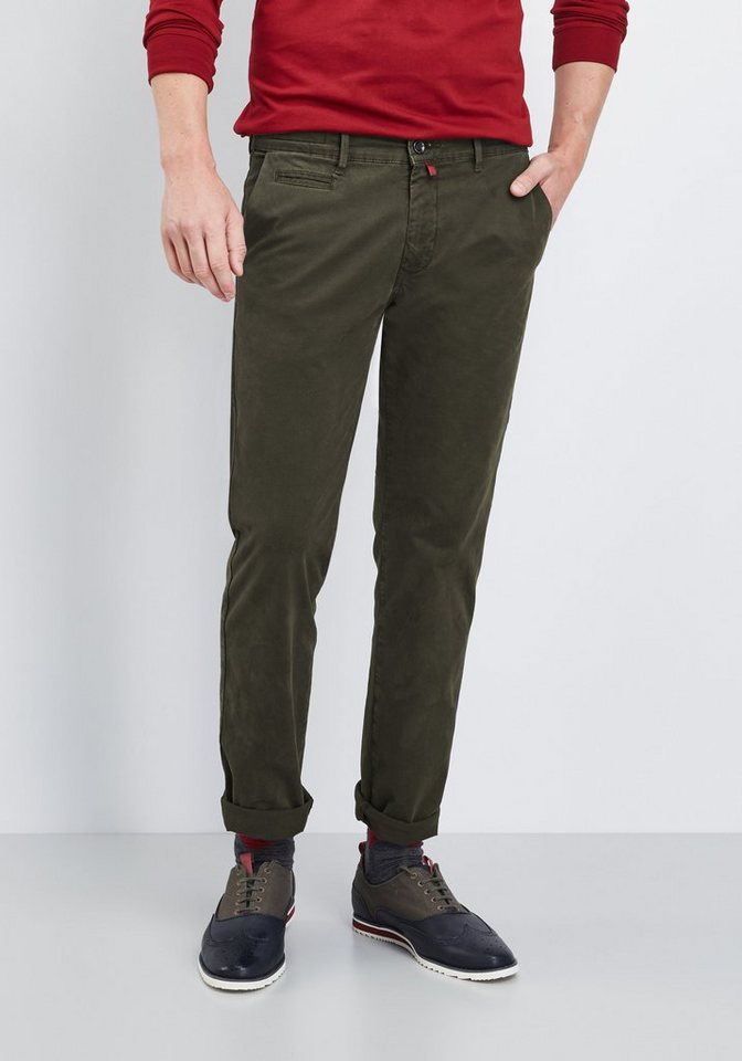 PIERRE CARDIN Chino mit Print »Lyon« in olive