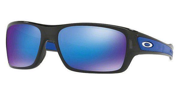 Oakley Herren Sonnenbrille »TURBINE XS OJ9003«, schwarz, 900303 - schwarz/blau