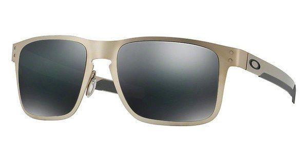 Oakley Herren Sonnenbrille »HOLBROOK METAL OO4123«, grau, 412309 - grau/schwarz