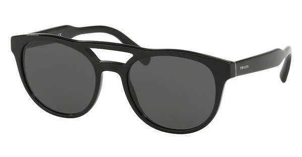 PRADA Prada Herren Sonnenbrille » PR 13TS«, schwarz, 1AB5S0 - schwarz/grau