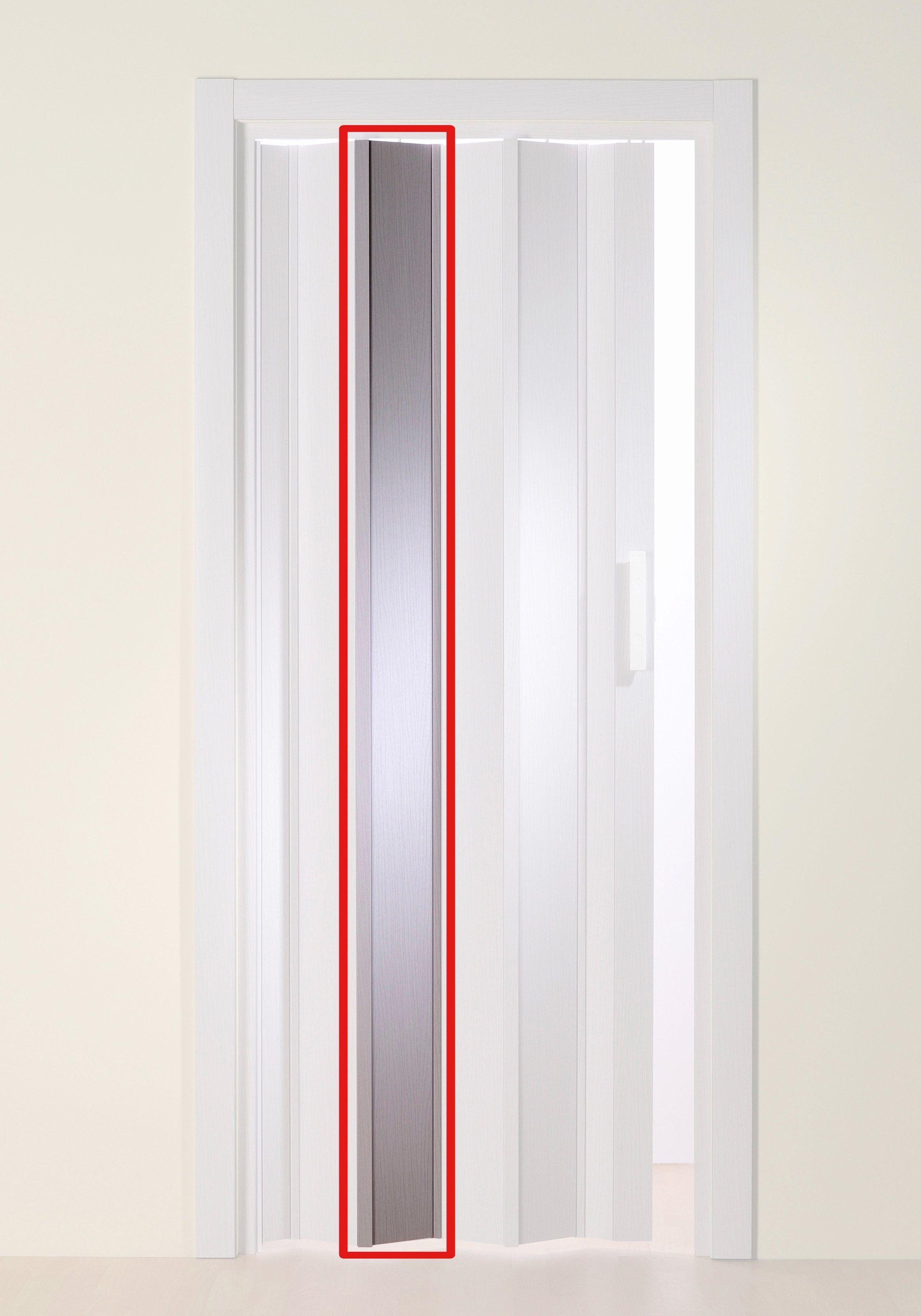 Türerweiterung , Zusatz-Lamelle für Falttür »Luciana«, eschefarben-weiß