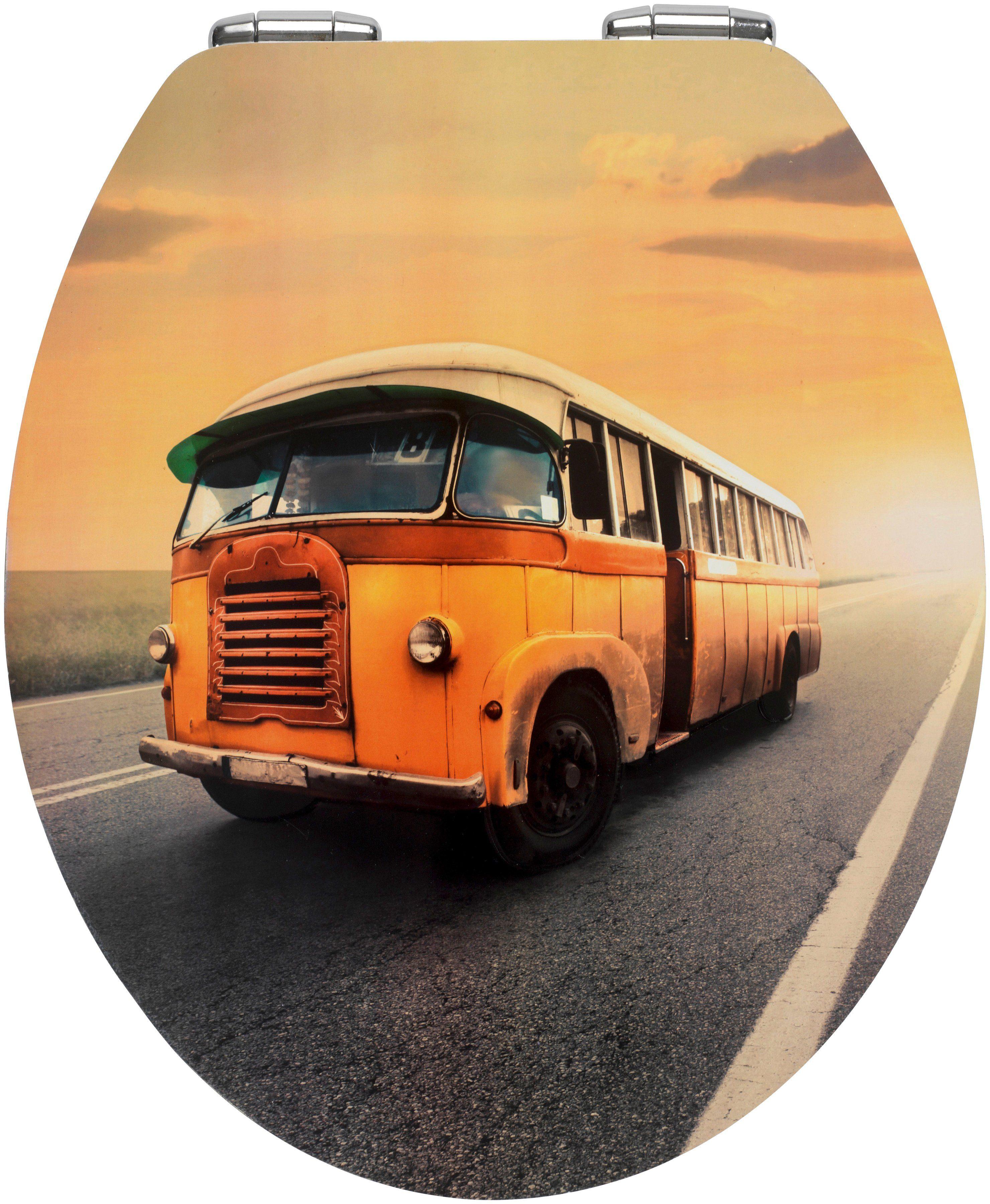 Wenko WC-Sitz »Bus«, Mit Absenkautomatik