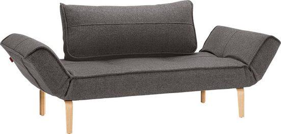 INNOVATION LIVING ™ Schlafsofa »Zeal«, im Scandinavian Design, Bow Beine, inklusive Rückenkissen