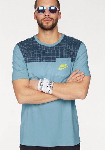 Nike Sportswear Rundhalsshirt MEN NSW TEE DRPTL AV15 PKT PRINT