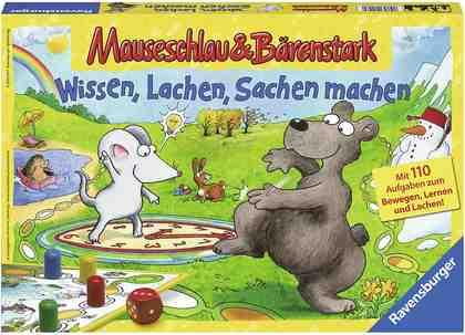 Ravensburger Würfelspiel, »Mauseschlau & Bärenstark Wissen, Lachen, Sachen machen«