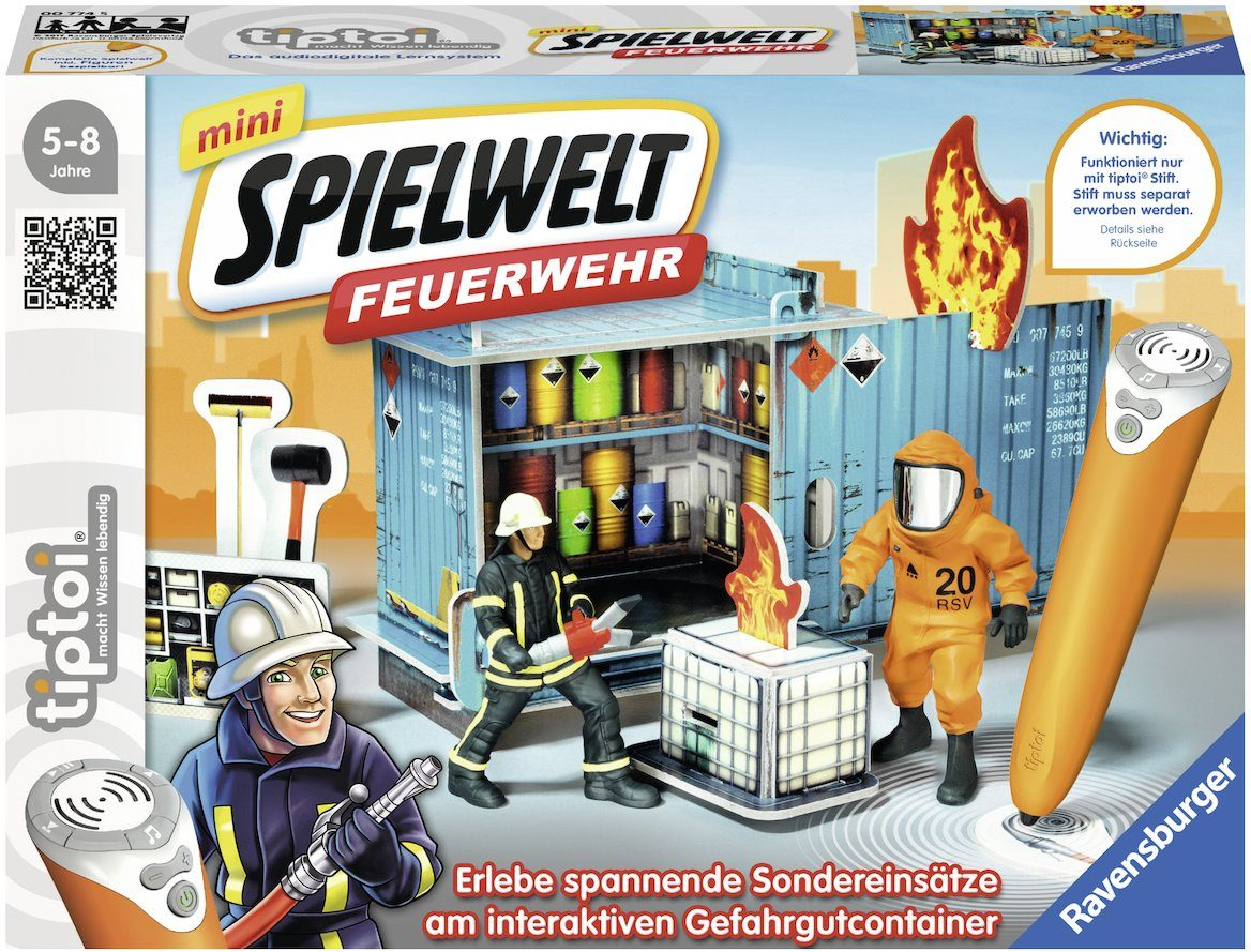Ravensburger Set, »tiptoi® mini Spielwelt Feuerwehr: Gefahrguteinsatz«