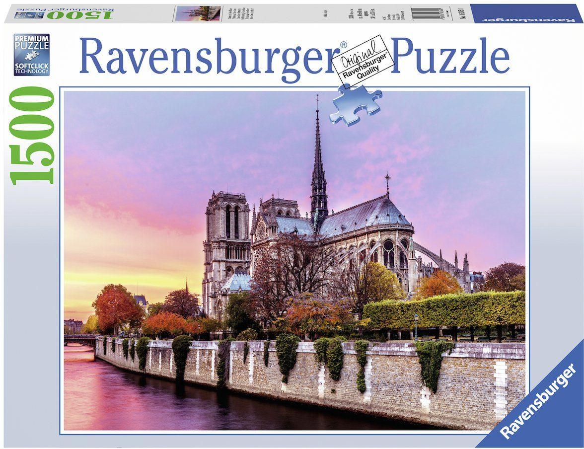 Ravensburger Puzzle »Malerisches Notre Dame«, 1500 Teilig, Softclick Technology