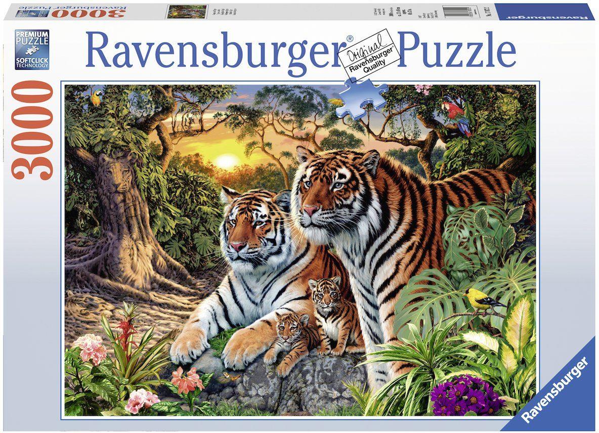 Ravensburger Puzzle, 3000 Teile, »Versteckte Tiger«