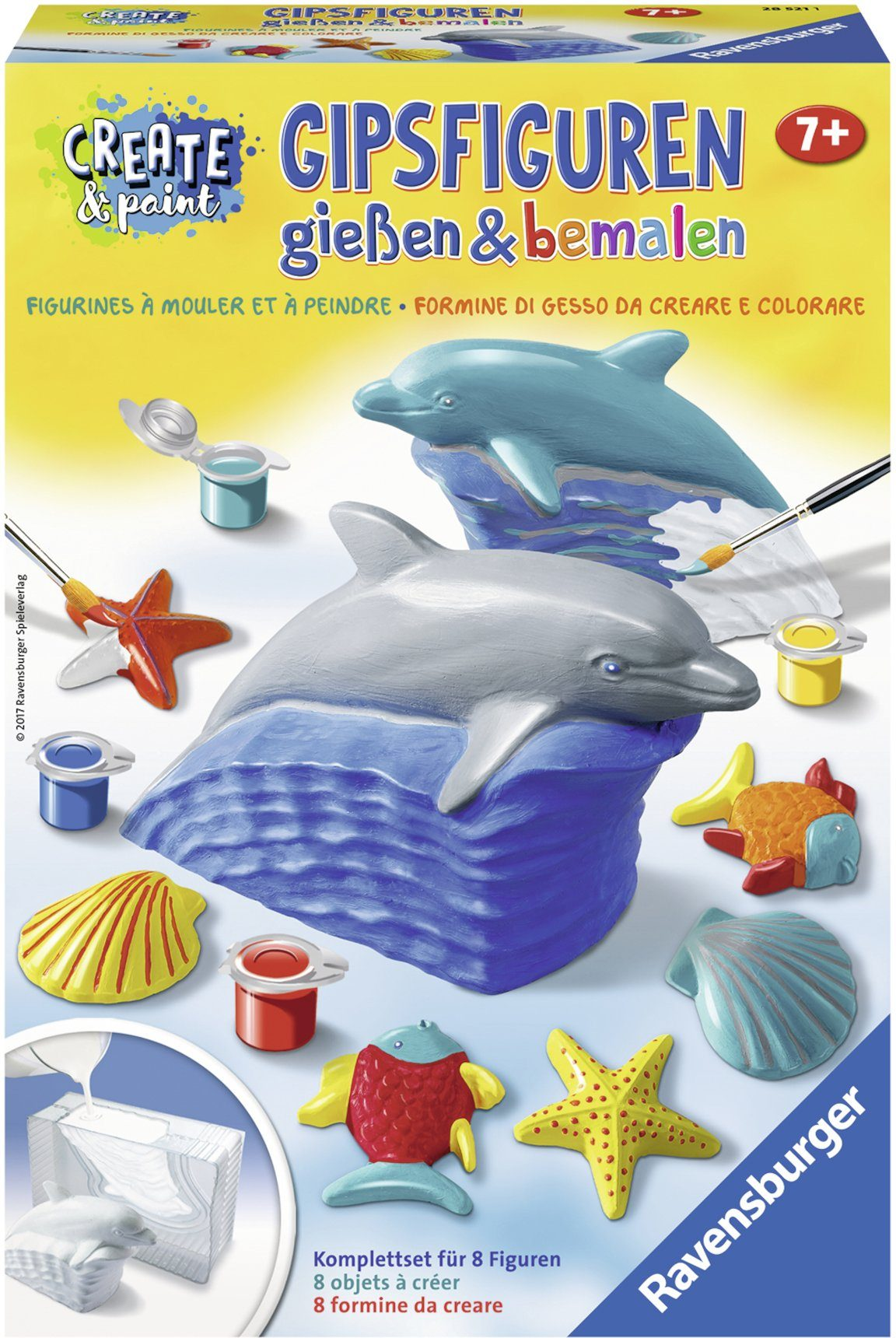 Ravensburger Gipsfiguren Kreativset, »Create & Paint Delfin«