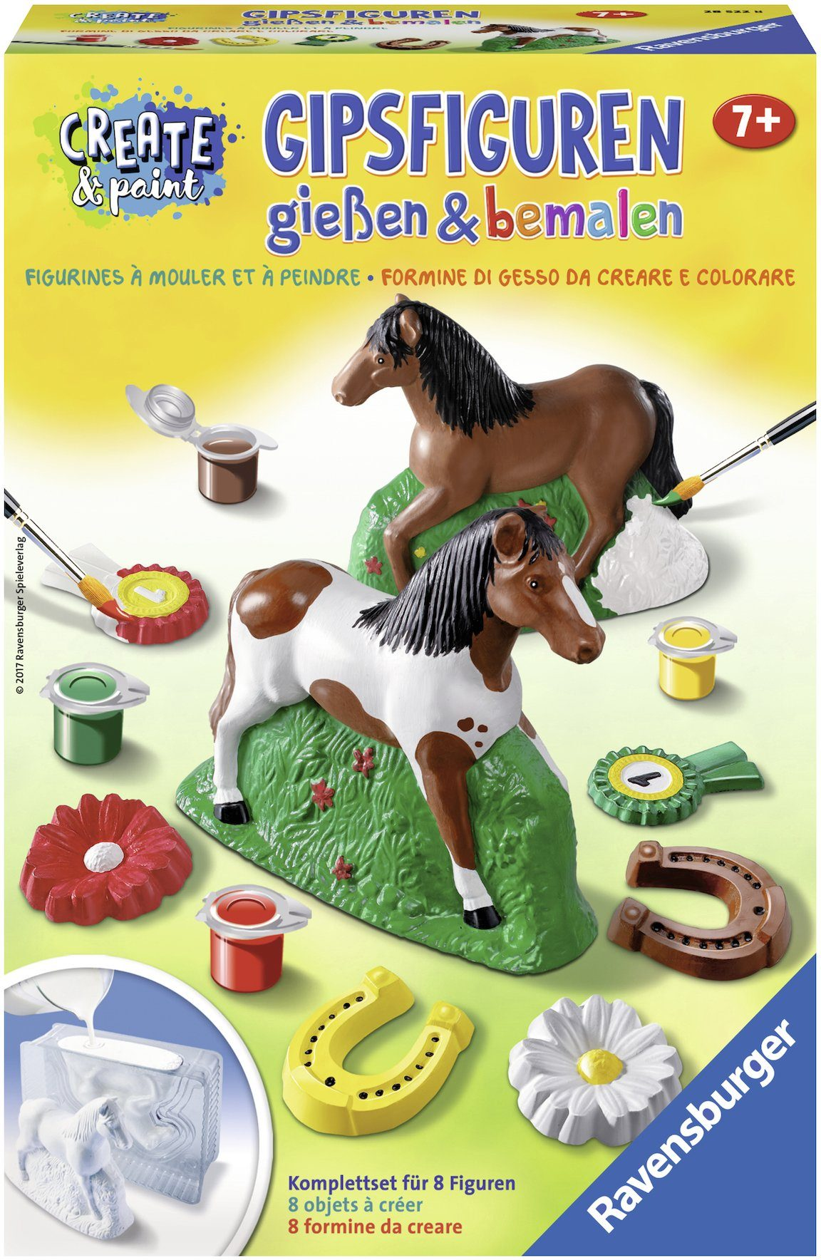 Ravensburger Gipsfiguren Kreativset, »Create & Paint Pferd«