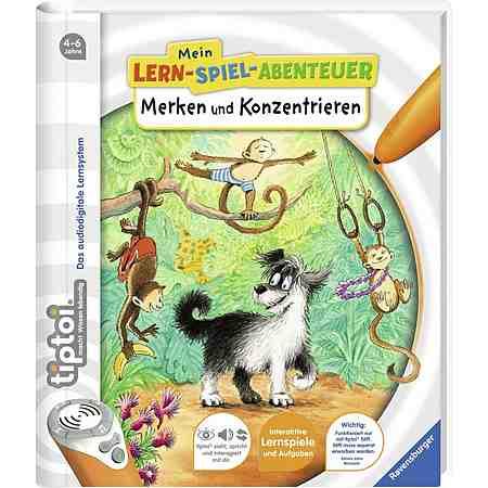 Ravensburger Buch, »tiptoi® Mein Lernspielabenteuer: Merken und Konzentrieren«