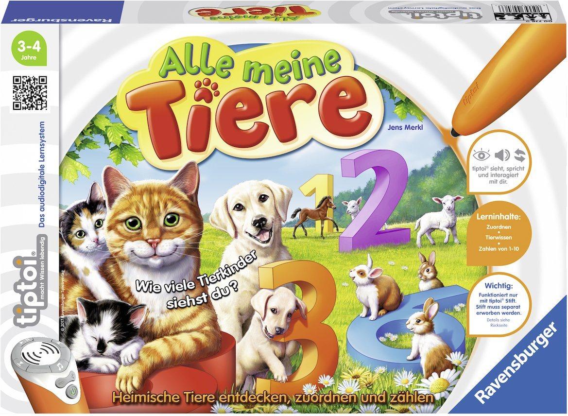 Ravensburger Lernspiel, »tiptoi® Alle meine Tiere«