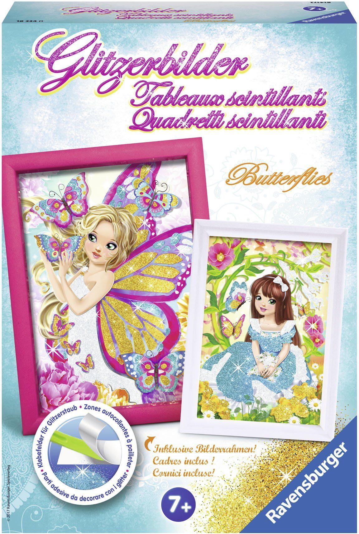 Ravensburger Kreativset, »Glitzerbilder Butterflies«